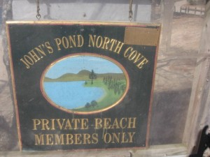 Johns Pond sign